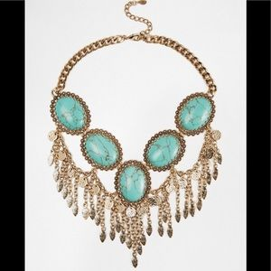 Aldo Calcite Turquoise Stone necklace